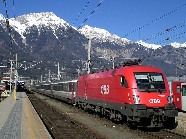 tren vias estacion tren innsbruck