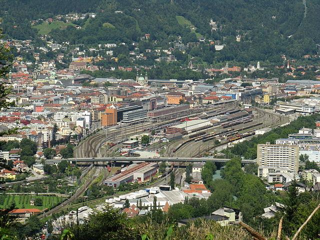 vista panoramica estacion tren innsbruck